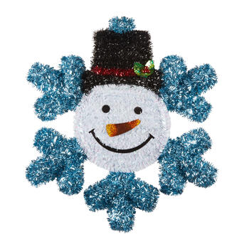 "21"" Tinsel Snowman Wall Decor view 1"