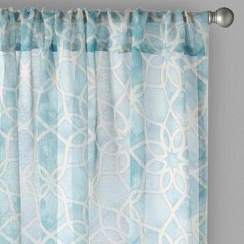 "Bombay™ 84"" Geo Rod Pocket Window Curtains, Set of 2"