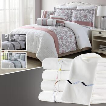 8-Piece Bed Sets & Embroidered Sheet Sets