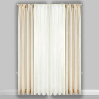 "96"" Metallic/Voile Rod Pocket Window Curtains, Set of 4 view 2"
