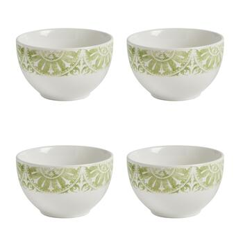 The Grainhouse™ Medallion Tile Cereal Bowls, Set of 4