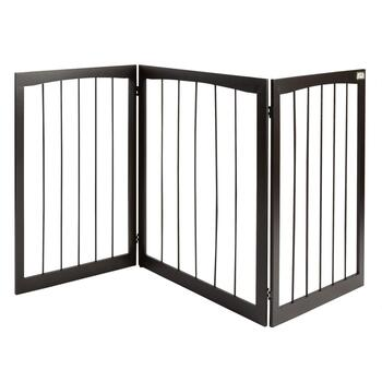Animal Planet® Espresso Slatted Wood Pet Gate