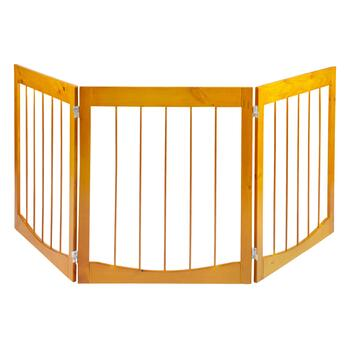 Solid Wood Double Hinged Pet Gate