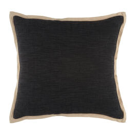 The Grainhouse™ Gray/Beige 2-Tone Square Throw Pillow view 1
