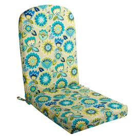 Yellow/Blue Floral Indoor/Outdoor Adirondack Chair Pad