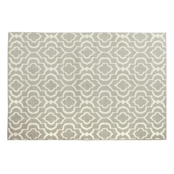 5'x7' Macedonia Gray/White Area Rug