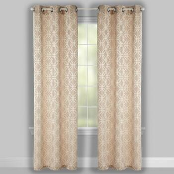 "84"" Clemson Geometric Grommet Window Curtains, Set of 2 view 2"