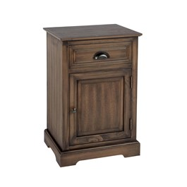 The Grainhouse™ Brown Stain 1-Door/1-Drawer Woodgrain Cabinet
