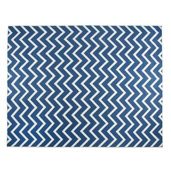 8'x10' Mohawk Blue Chevron Printed Area Rug