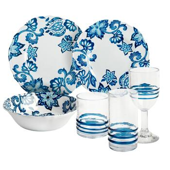 Blue Bohemian Dinnerware Collection