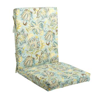 Jacobean Floral Indoor/Outdoor Hinged Chair Pad