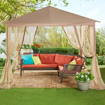 10' Square Gazebo & Mosquito Netting