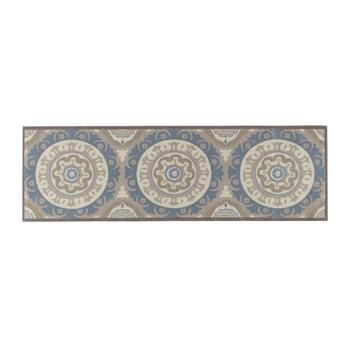 "Waverly® 4'4""x6'11"" Gray Medallion Indoor/Outdoor Area Rug view 2 view 3"