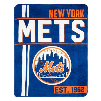 MLB New York Mets Plush Throw Blanket