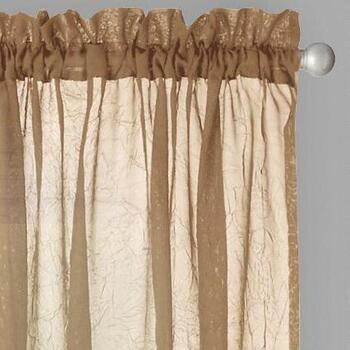 Crushed Voile Rod Pocket Window Curtains, Set of 2