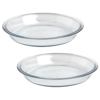 "9"" Anchor Hocking® Glass Pie Plates, Set of 2"