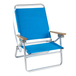 Blue/White 3-Position Folding Sand Chair view 1
