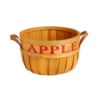 """Apple"" 15.5"" Stencil Bushel Basket"
