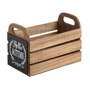 """Hello Autumn"" Wooden Caddy"