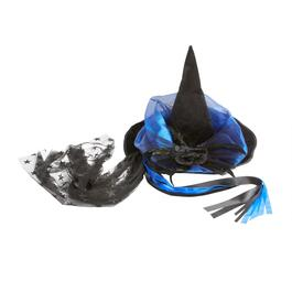 Black/Blue Witch's Hat