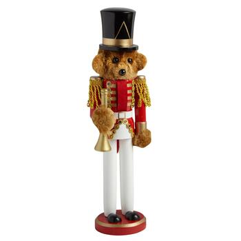 "15"" Teddy Bear Soldier Nutcracker with Horn"