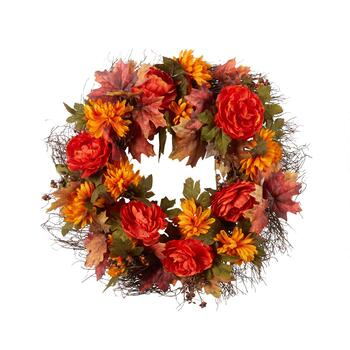 "22"" Autumn Mum Wreath"