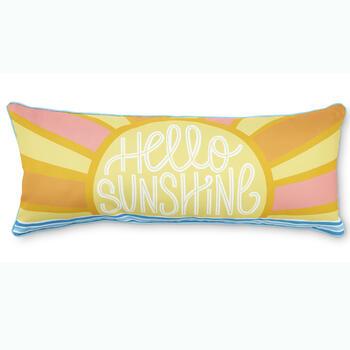 hello sunshine 14 x 24 throw pillow