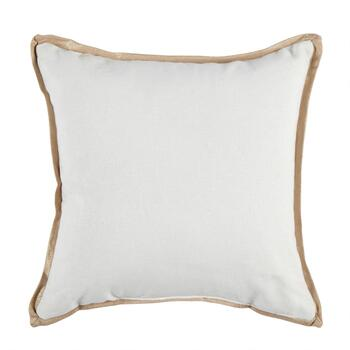 White and Gold Beaded Monogram Square Throw Pillow view 2