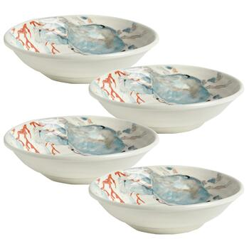 Coastal Living Seascapes™ Blue Crab Ceramic Pasta Bowls, Set of 4 view 2