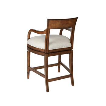 Avery Upholstered Swiveling Counter Chair view 2