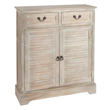 2-Drawer/2-Door Louvre Cabinet
