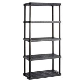 Black Heavy-Duty Ventilated Shelving