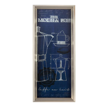 "10""x12"" Blue ""Mocha Pot"" Wall Decor view 1"