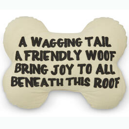 """A Wagging Tail"" 13"" x 18"" Throw Pillow view 1"