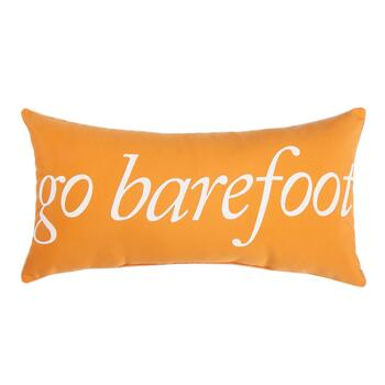 """Go Barefoot"" Indoor/Outdoor Oblong Throw Pillow"