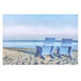 "24""x36"" Sunset Beach Chairs Indoor/Outdoor Canvas Wall Art view 1"