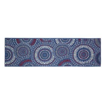 Blue Medallions All-Weather Area Rug view 2 view 3 view 4