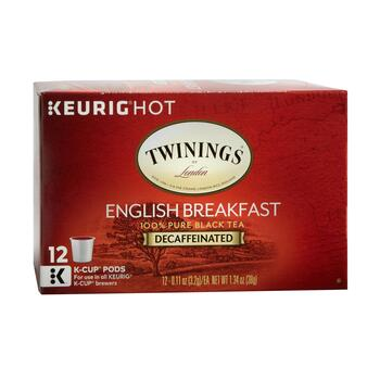 Keurig® Hot Twinings® Decaf English Breakfast Pods, 6-Boxes