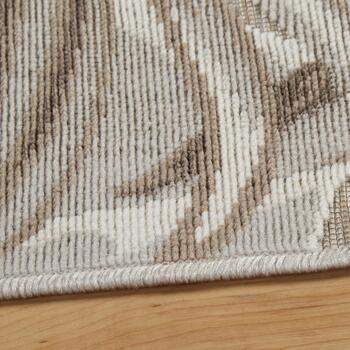 "4'7""x6'6"" Beige Palm Leaf Indoor/Outdoor Area Rug view 2"