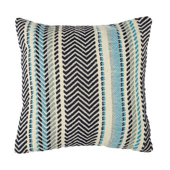 Blue Stripe Indoor/Outdoor Square Throw Pillow view 1