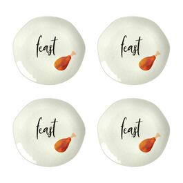 """Feast"" Heavyweight Melamine Dinner Plates, Set of 4"