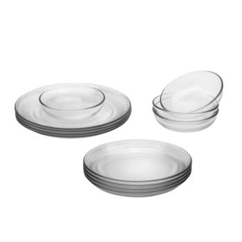 Crisa® Coupe Glass Dinnerware Set, 12-Piece