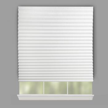 White Peel-and-Stick Pleated Paper Window Shades, 4-Pack