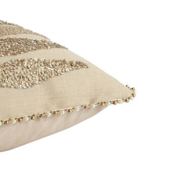Tan Beaded Diamond Throw Pillow view 2 view 3
