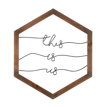 "The Grainhouse™ 18""x21"" ""This is Us"" Wire Framed Wall Decor view 1"