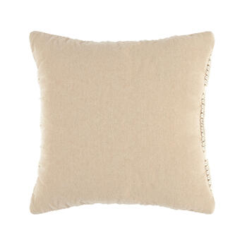 The Grainhouse™ Ivory Macramé Square Throw Pillow view 2