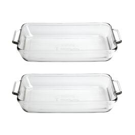 3-Quart Rectangular Glass Baking Dishes, Set of 2