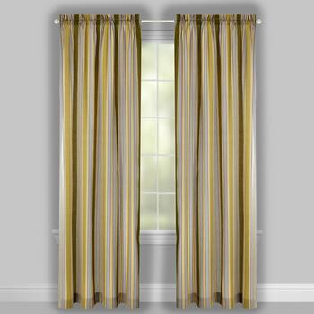"Traditions by Waverly® 84"" Creme Stripes Rod Pocket Window Curtains, Set of 2 view 2"