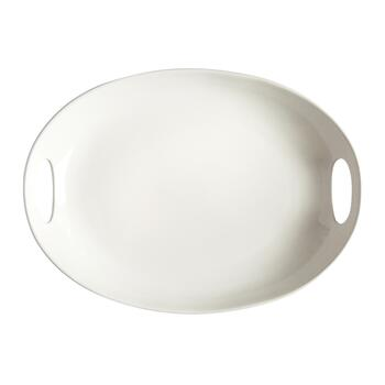 Cutout Handle Large Ceramic Platter