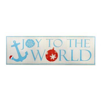 """Joy To the World"" Canvas Wall Decor"
